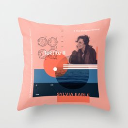 Beyond Curie: Sylvia Earle Throw Pillow