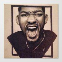fresh prince Canvas Prints featuring Fresh Prince by JoelAnthonyArt