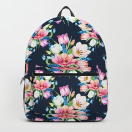 tulips on dark background Backpack