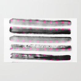 abstract watercolor dots Rug