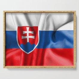 Slovakia Flag Serving Tray