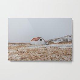 Icelandic Cabin Metal Print