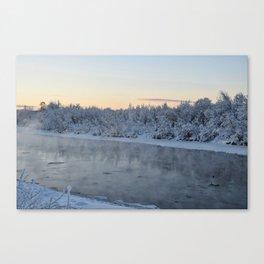 Steamy Chena River Canvas Print