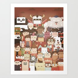The Nick Yorkers family portrait  Art Print