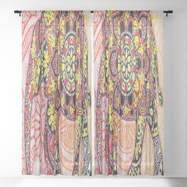 Tribal Elephant Mandala Bro Sheer Curtain