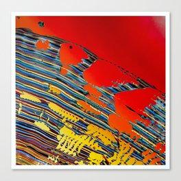Original Abstract Splatter Painting Gradient Artwork Canvas Print
