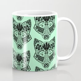 Mint Wolf Head Coffee Mug