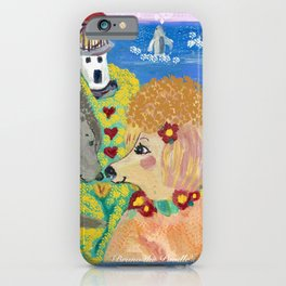 Hawaiian Poodles Whale Watching iPhone Case