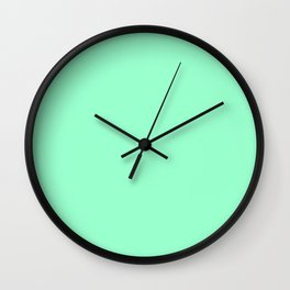 Mint Meringue Wall Clock