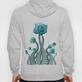 Blue Rose with Octopus Tentacles Art Print Hoody