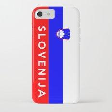 slovenia country flag Slovenija name text Slim Case iPhone 7