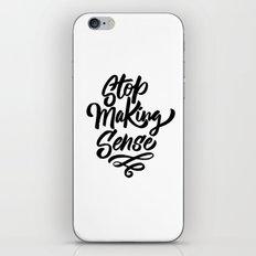stop making sense iPhone & iPod Skin