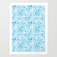 numbers Art Prints featuring Numbers by Ramses Pujol
