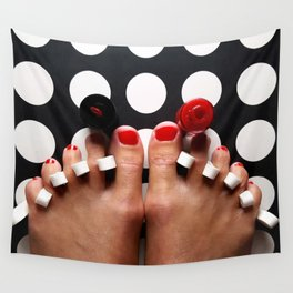 Rosy Toes Wall Tapestry