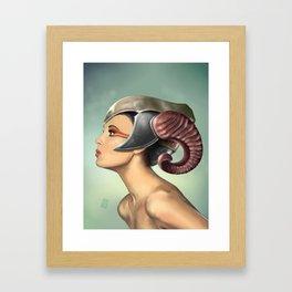 Horned helmet Framed Art Print