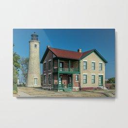 Southport Light Station Lighthouse Kenosha Wisconsin Lake Michigan Metal Print