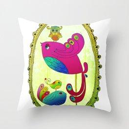 Bird Motherhood Throw Pillow