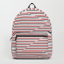 Mixed Signals Abstract - Red, Gray, Black, White Backpack