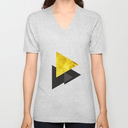 Metal triangle abstract - Metal sign - The Five Elements Unisex V-Neck