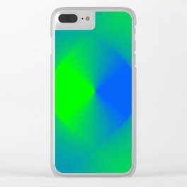 Blue and Green Burst Clear iPhone Case