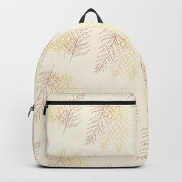 Red Ferns All Over Backpack