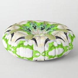 green cows mandala Floor Pillow