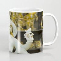 hindu Mugs featuring Lakshmi-Hindu Goddess in India by The Photo Buddha