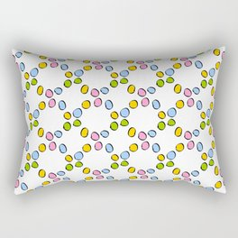 Circle and abstraction prehistoric pattern-,abstract,geometric,geometrical,circle,sphere Rectangular Pillow