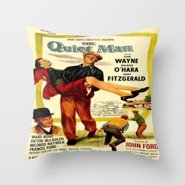 Vintage poster - The Quiet Man Throw Pillow