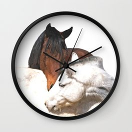 Horses in Love Wall Clock