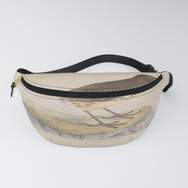 Vintage Print - A History of the Birds of Europe (1859) - Pennsylvanian Pipit Fanny Pack