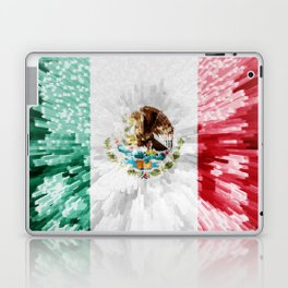 Extruded Flag of Mexico Laptop & iPad Skin