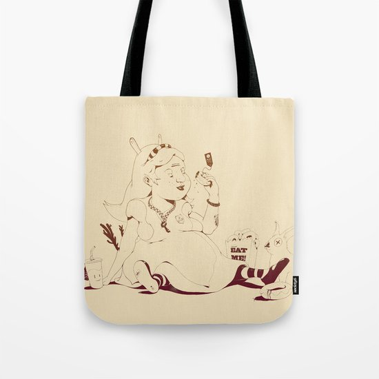 Alice stuck in the wonderland ! Tote Bag