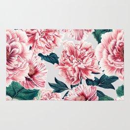 Pattern pink vintage peonies Rug