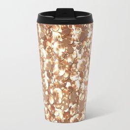 Golden confetti glitter sparkl Travel Mug