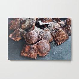 Chocolate. Ravioli. Metal Print
