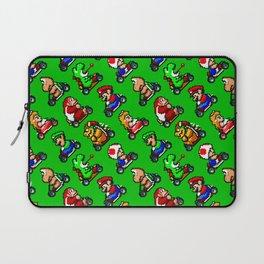 Super Mar!o Kart heroes | greengrass || retrogaming pattern Laptop Sleeve