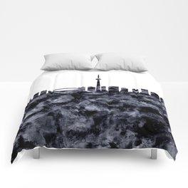 Toronto Skyline Canada Comforters