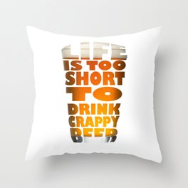 Beer day! Throw Pillow