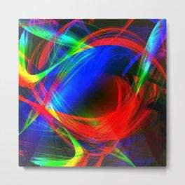 Colorful smoke Metal Print