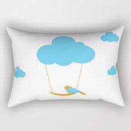 Cute bird and cloud Rectangular Pillow