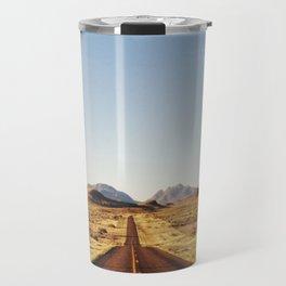 Golden Rolling Hills Road Travel Mug