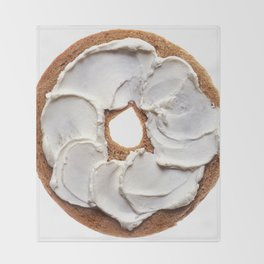 Bagel with Cream Cheese Throw Blanket