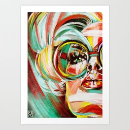 """Glowing 5"" Art Print"
