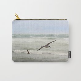 Seagulls flying over rough sea Carry-All Pouch