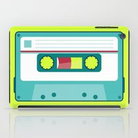 cassette iPad Cases featuring #54 Cassette by Brownjames Prints