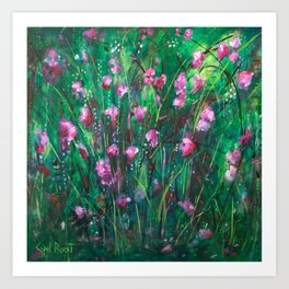 """WOODLAND SPRING"" Original Painting by Cyd Rust Art Print"