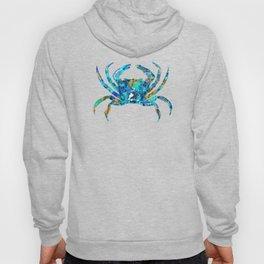 Blue Crab Art by Sharon Cummings Hoody