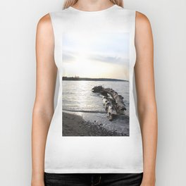 Logs Kits Beach Sunset Biker Tank