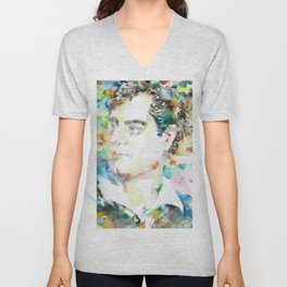 LORD BYRON - watercolor portrait Unisex V-Neck
